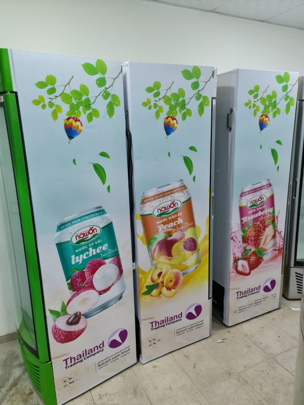 Hundreds of refrigerators with Nawon Posters are launched to the market. 1