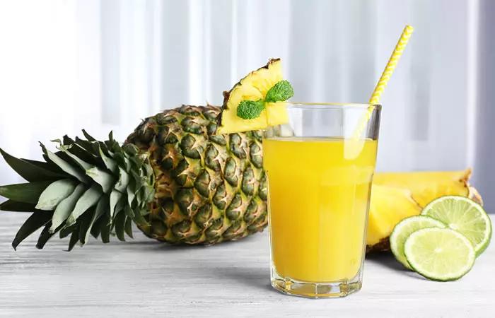 pineapple juice drink lemon jucie